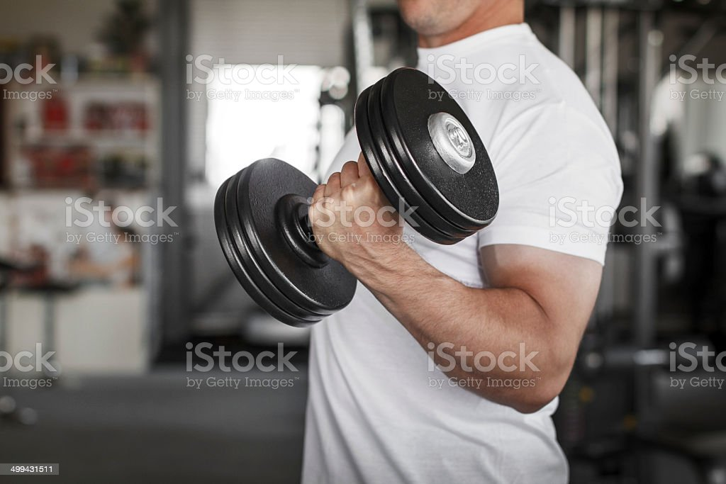 Active man workout royalty-free stock photo