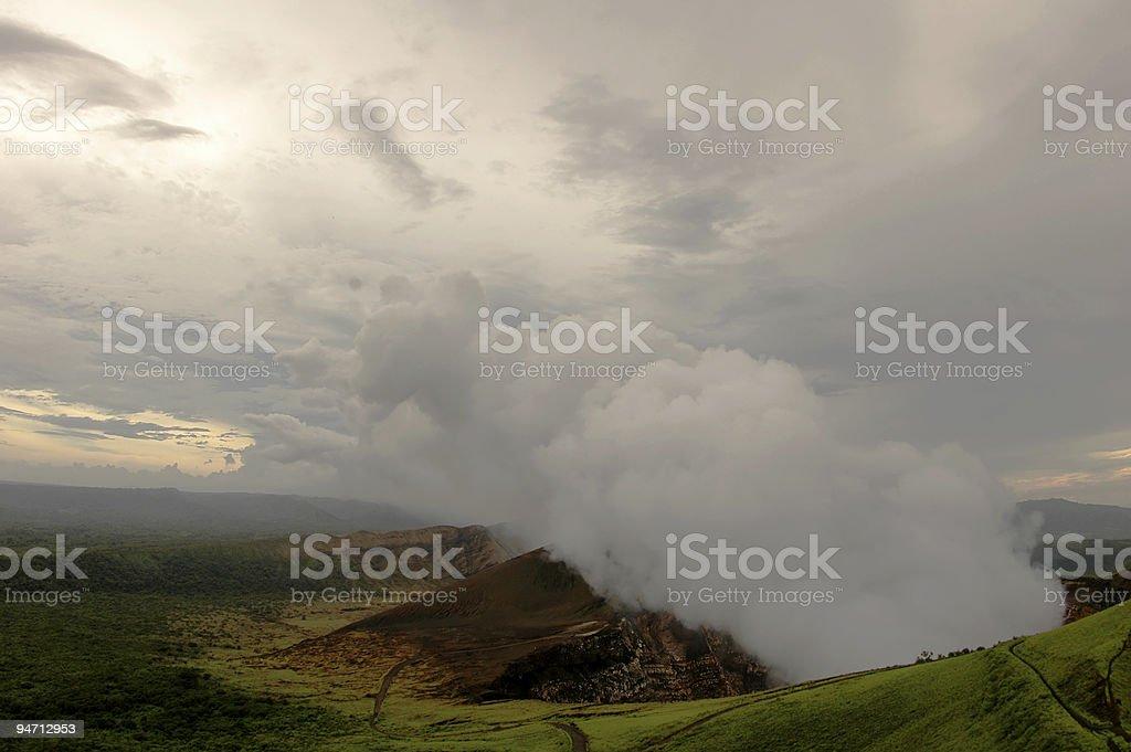 Masaya vulcão ativo na Nicarágua foto royalty-free