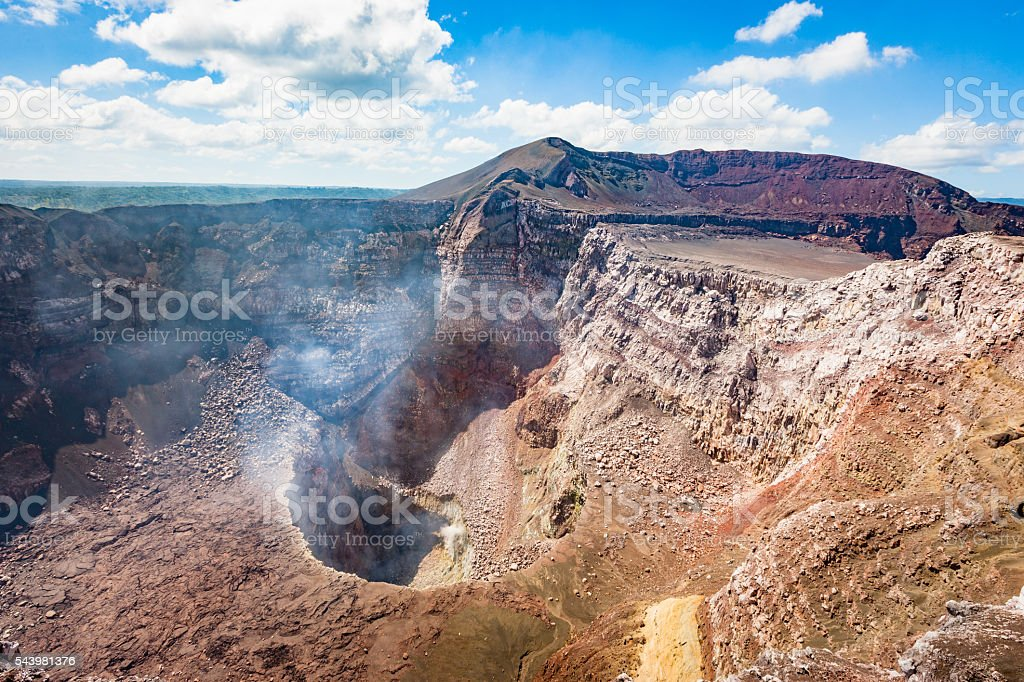 Active Masaya Volcano Santiago Crater Nicaragua stock photo