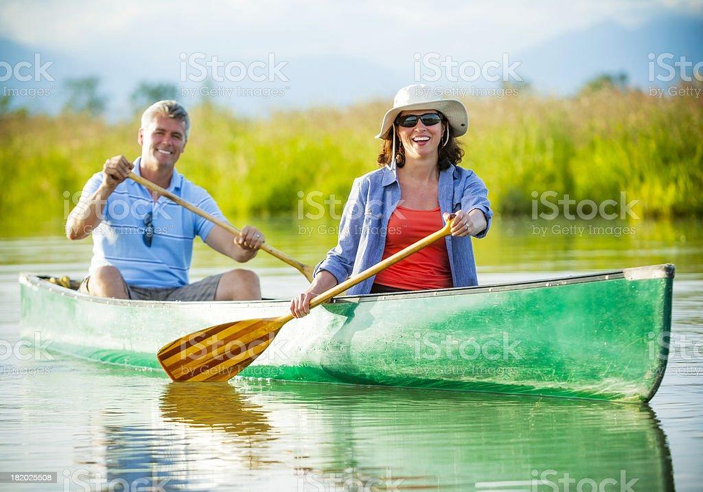 Active Mature Couple Enjoying the Outdoors royalty-free stock photo