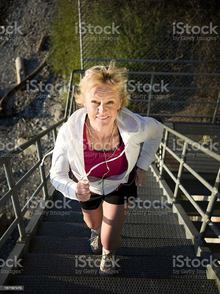 Active Mature Woman Running royalty-free stock photo