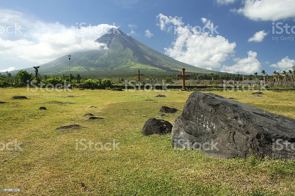 active mayon volcano philippines royalty-free stock photo