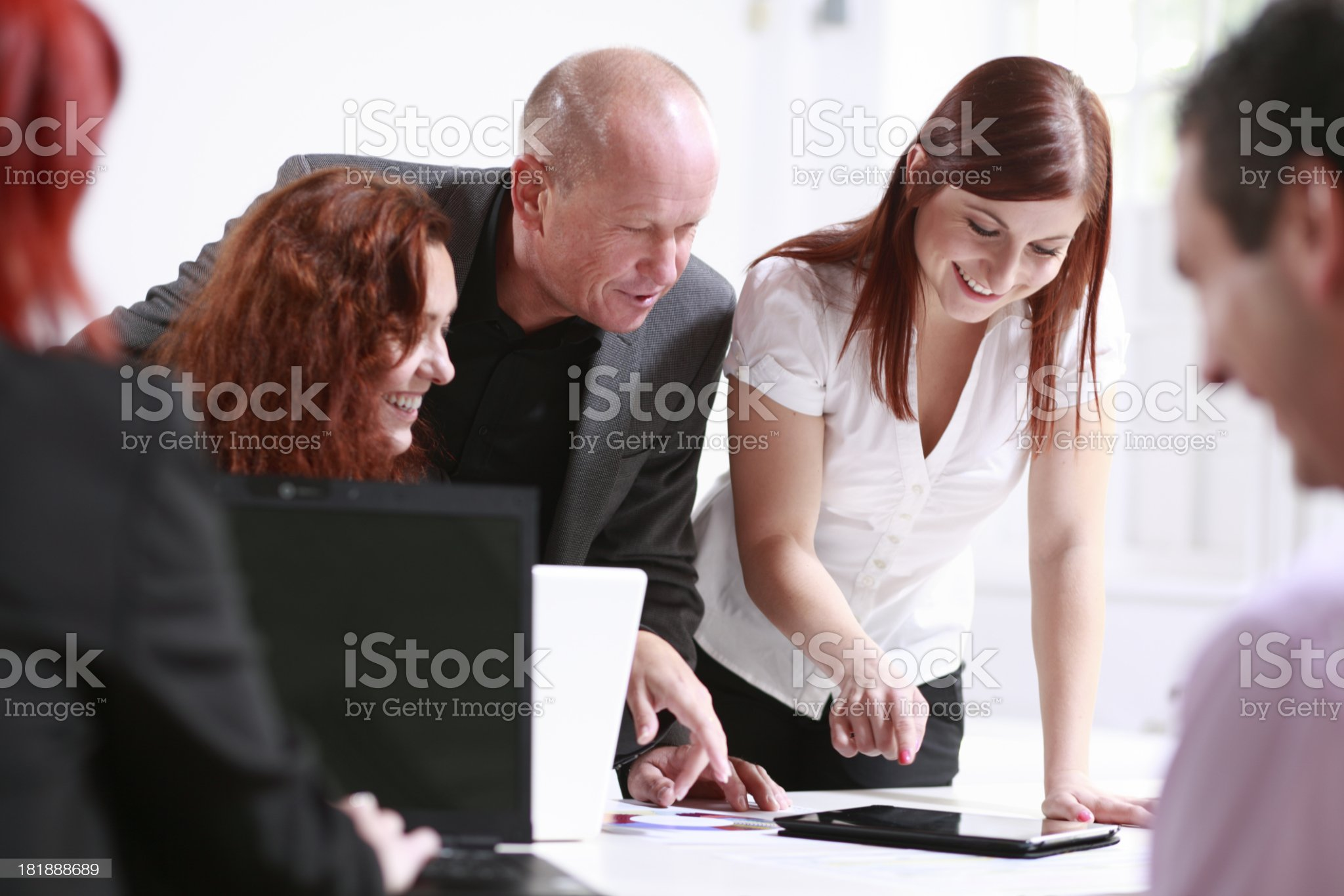 Active meeting royalty-free stock photo