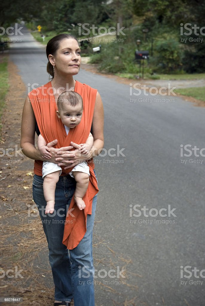 Active Mother and Baby Sling / Carrier royalty-free stock photo