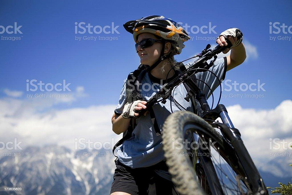 Active Mountain biking royalty-free stock photo
