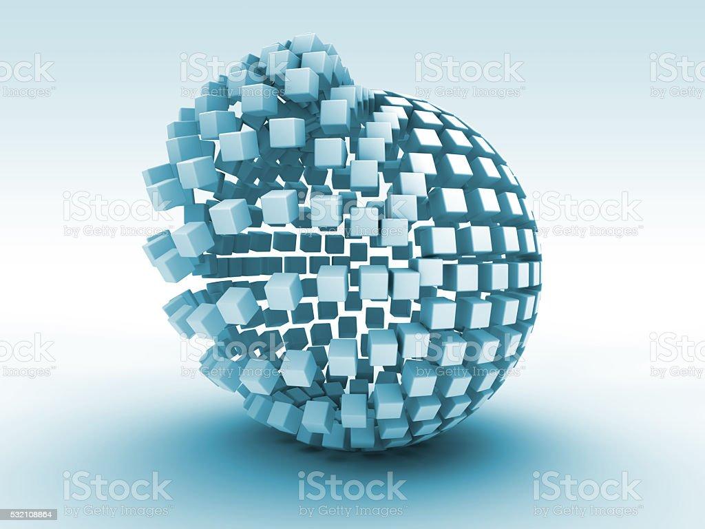 Active Nano Molecules stock photo