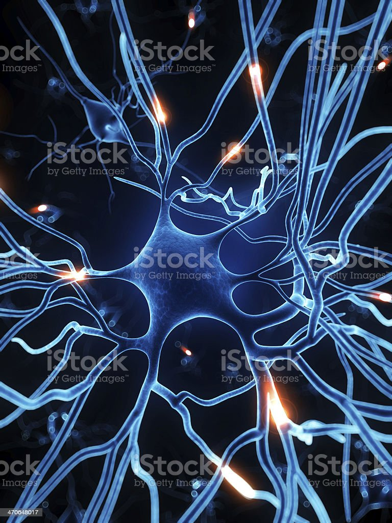 active nerve cell illustration royalty-free stock photo