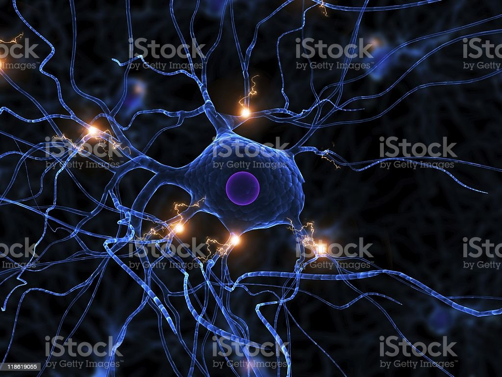 active nerve cell royalty-free stock photo