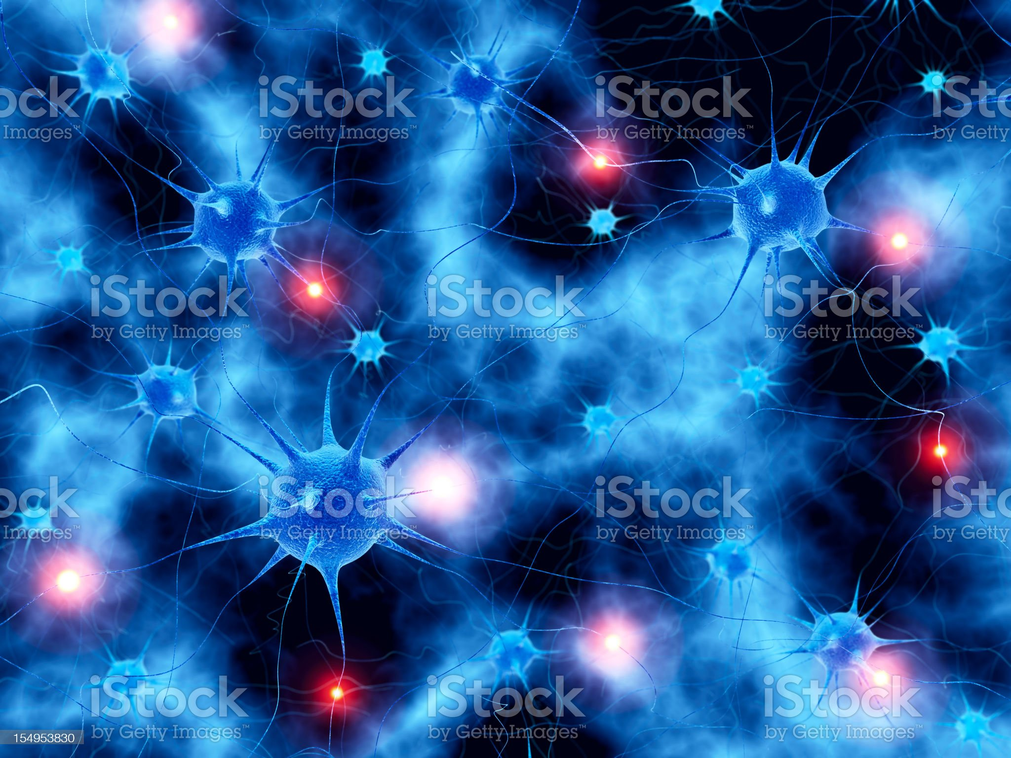 Active neural network abstract background royalty-free stock photo