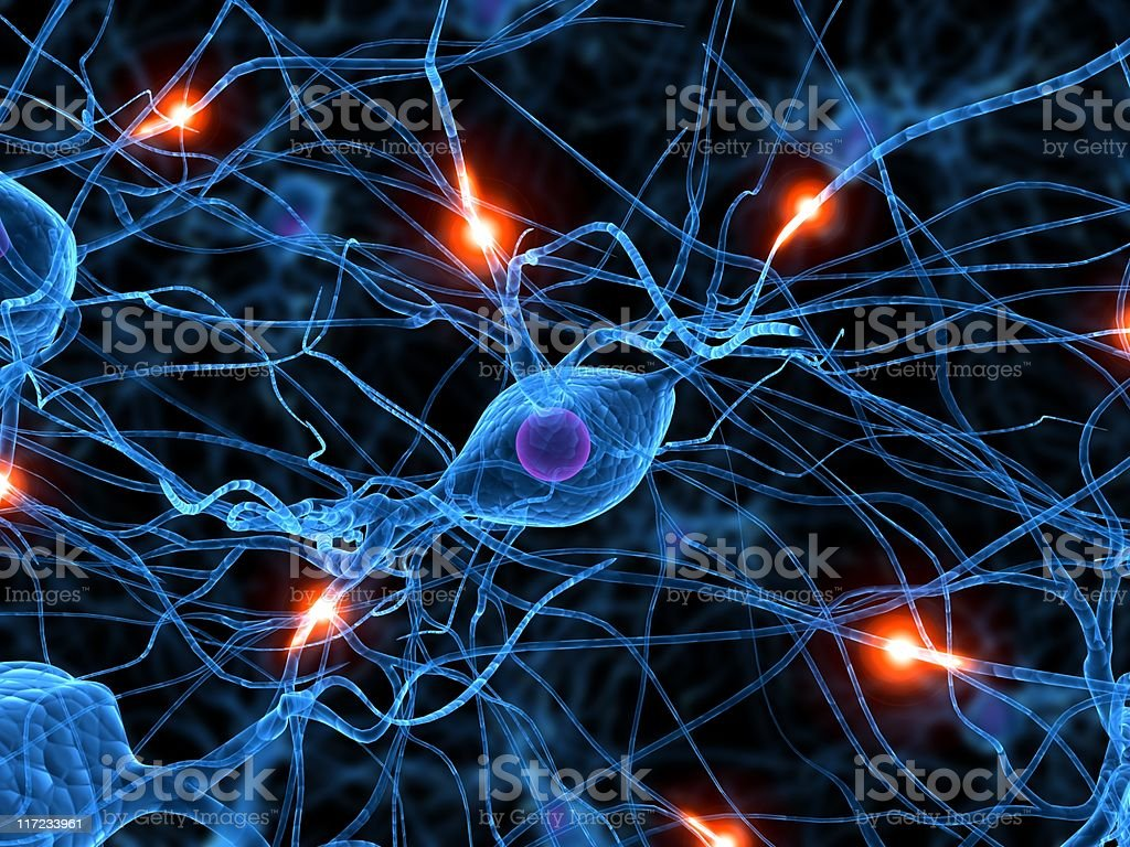 active neurone stock photo