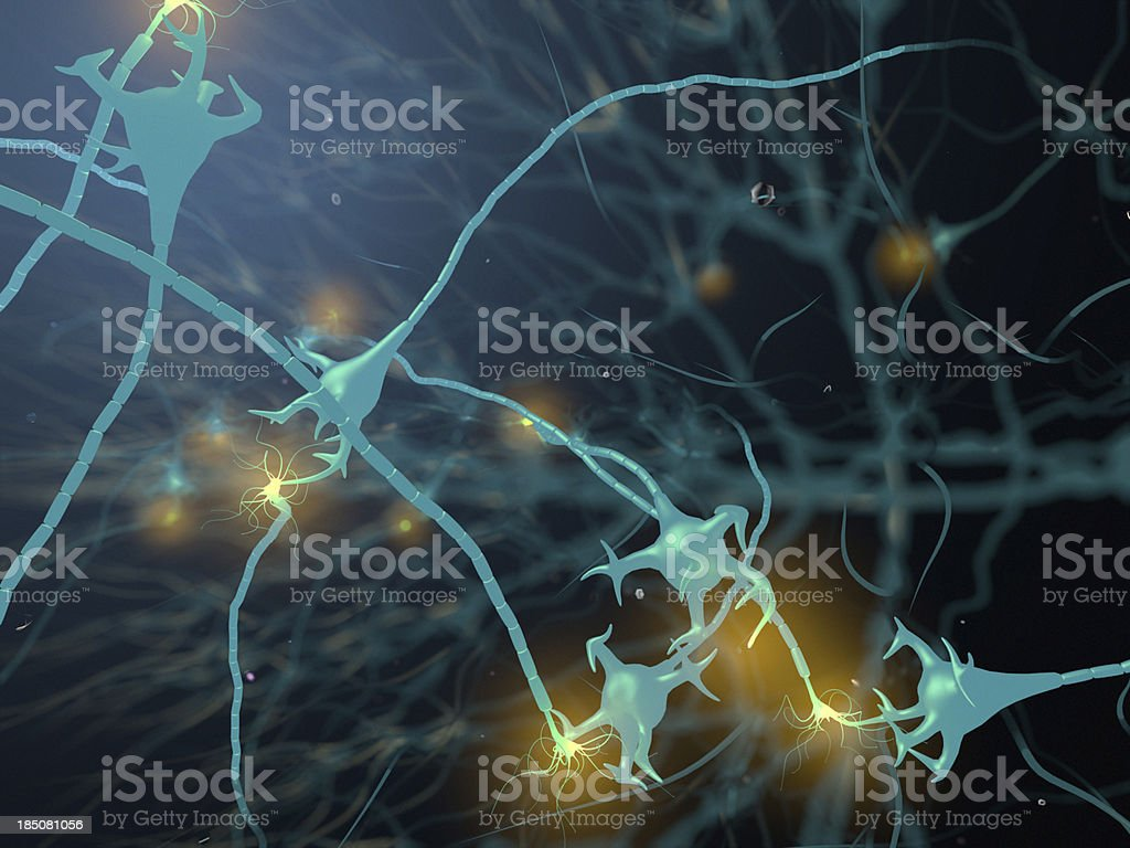 Active Neurone stock photo