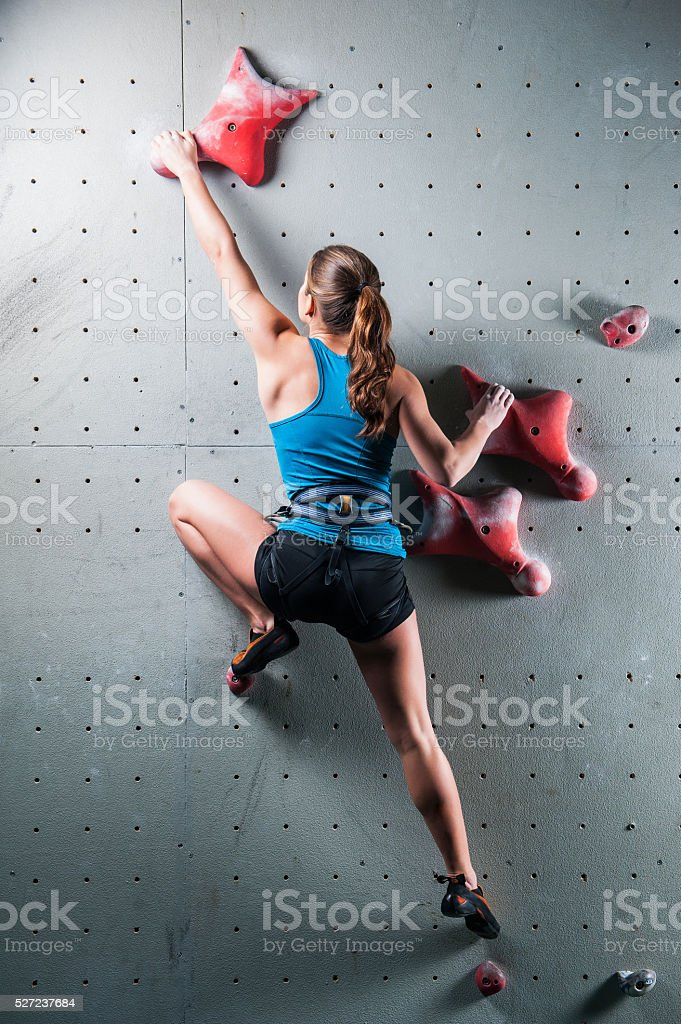 Active pretty woman  in sport centre stock photo