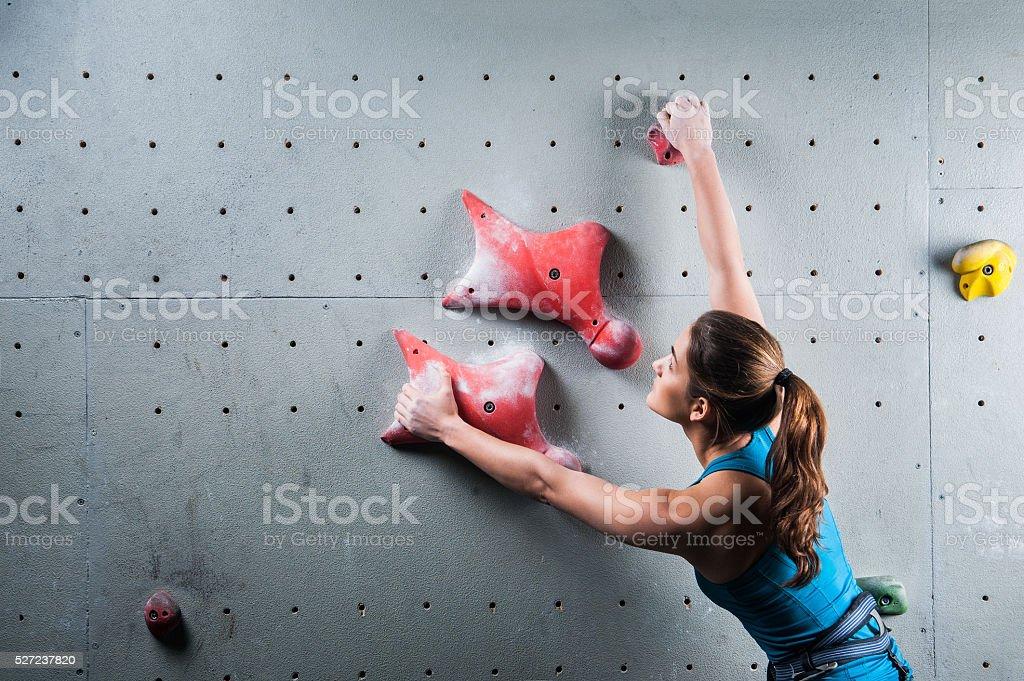 Active pretty woman  in sport centre stock photo