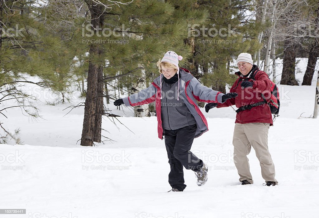Active Retired Couple royalty-free stock photo