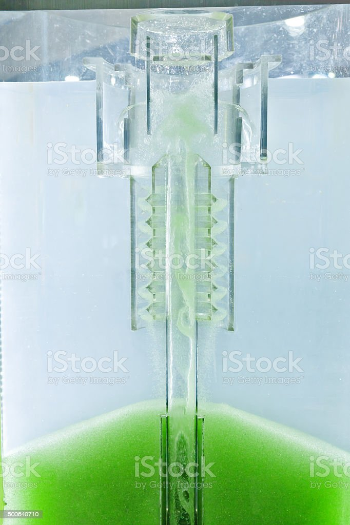 Active sand-filter system stock photo