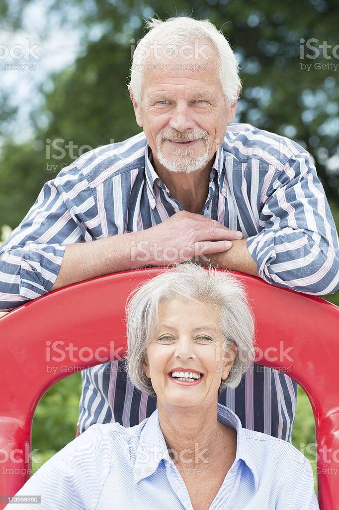 Active senior couple royalty-free stock photo
