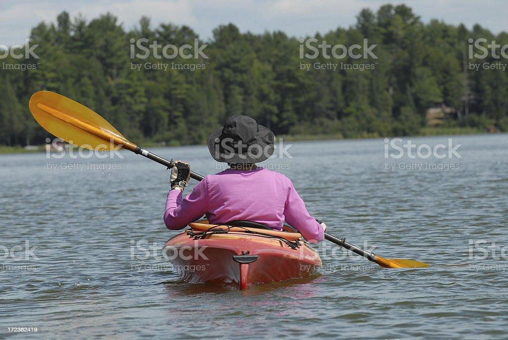Active Senior Enjoying the Day royalty-free stock photo