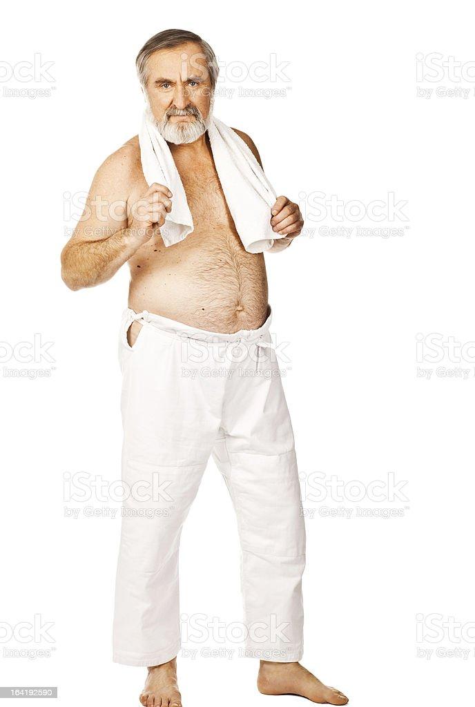 Active senior man exercising royalty-free stock photo