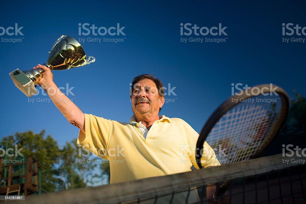Active senior man royalty-free stock photo