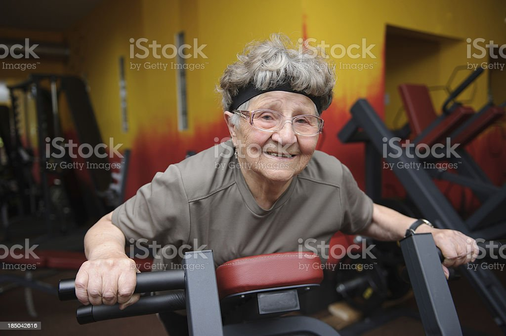 Active senior woman exercising royalty-free stock photo