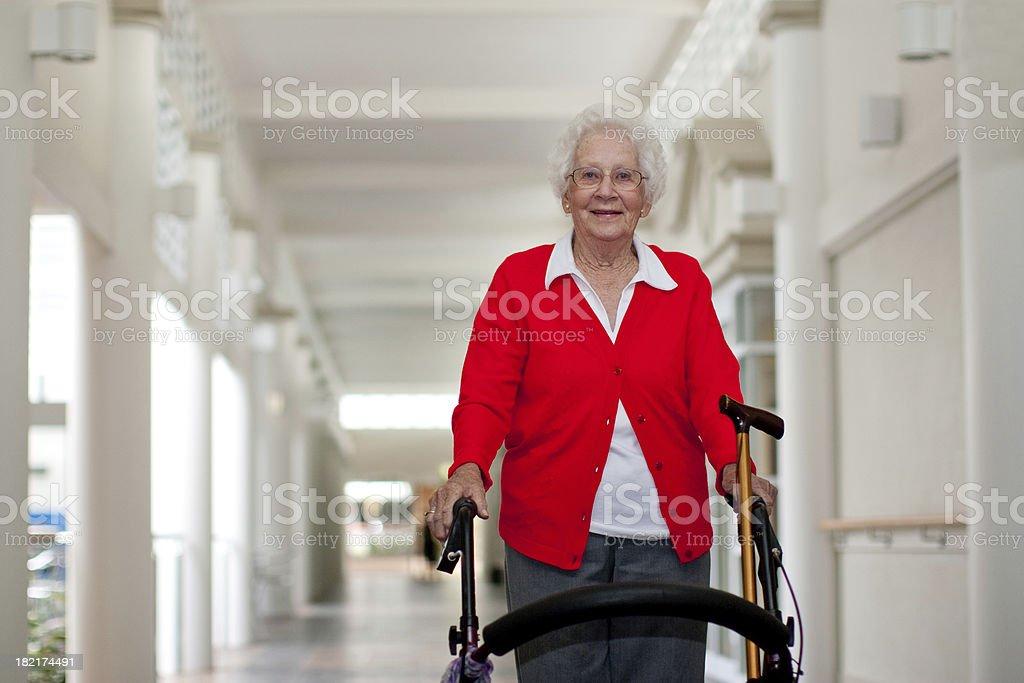 Active Senior Woman Indoors royalty-free stock photo