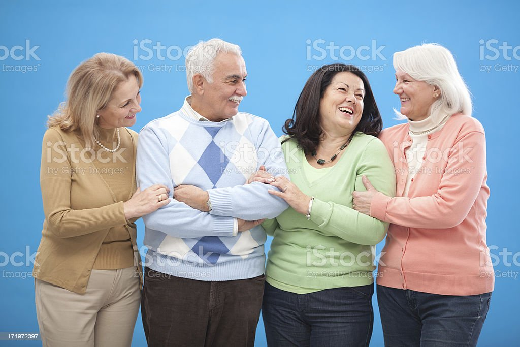 Active seniors. royalty-free stock photo