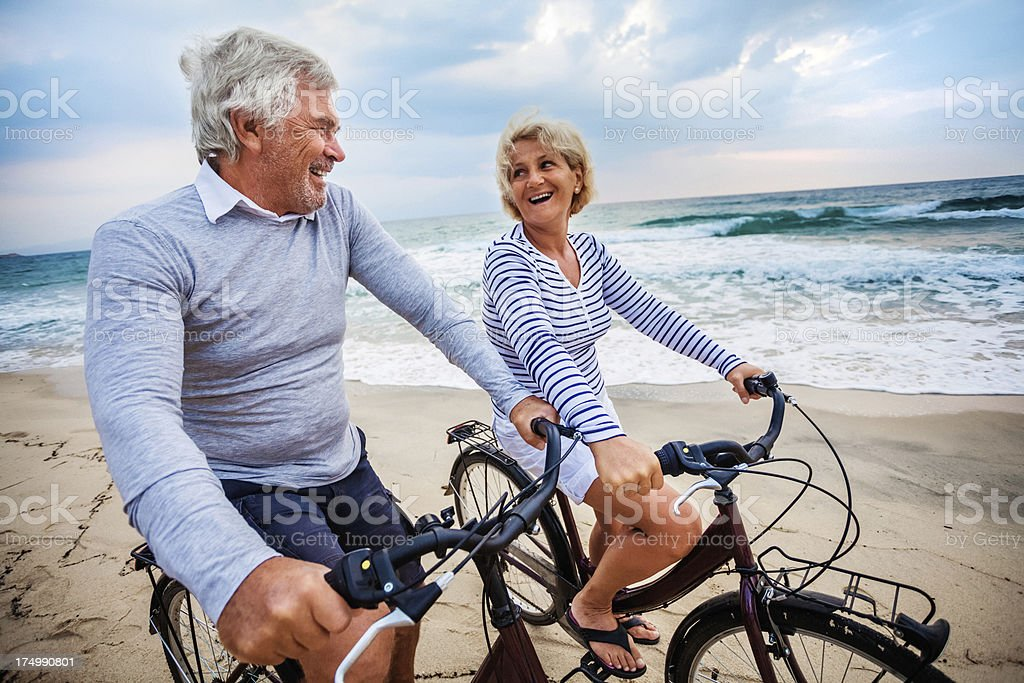 Active seniors royalty-free stock photo