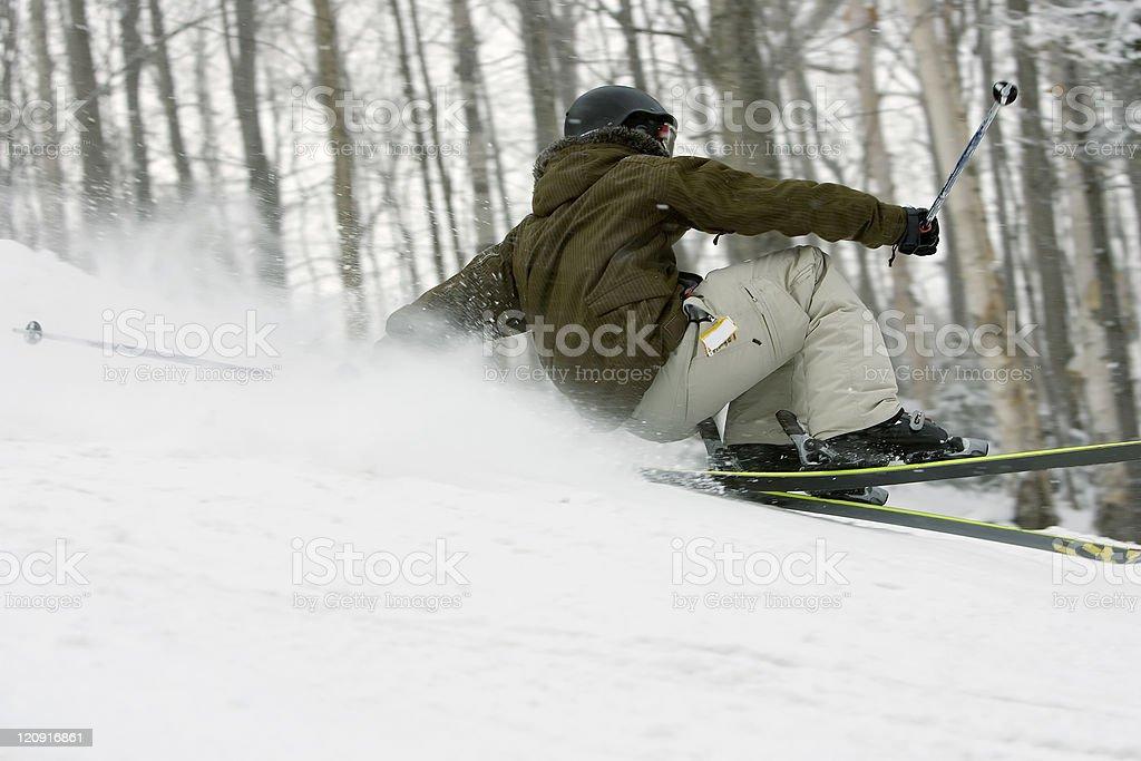 Active skier royalty-free stock photo