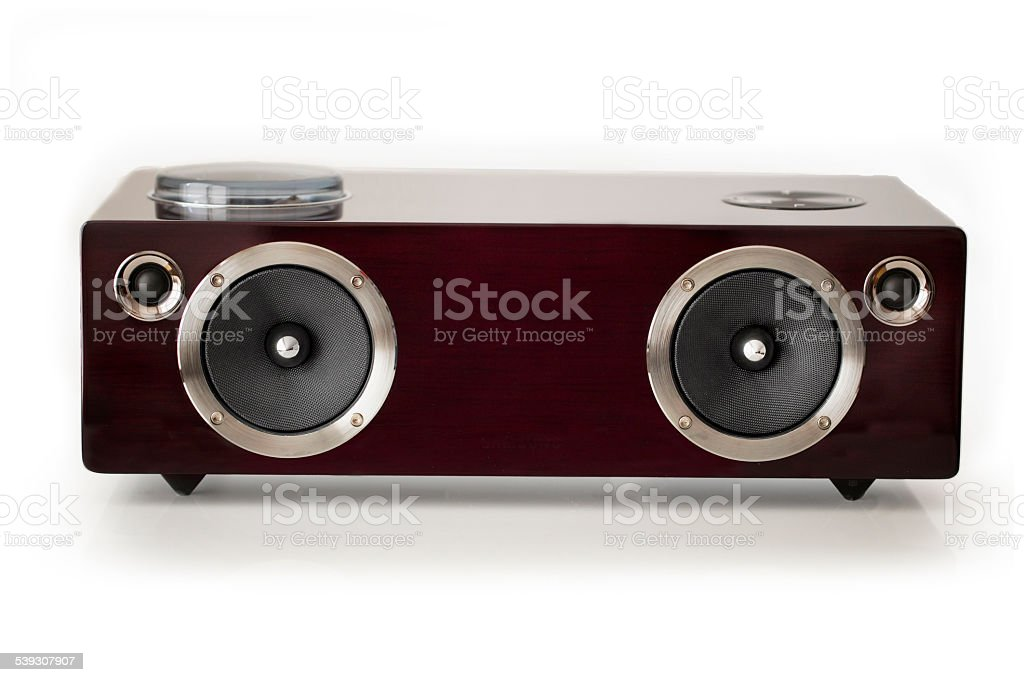 Active Stereo Speaker isolated stock photo