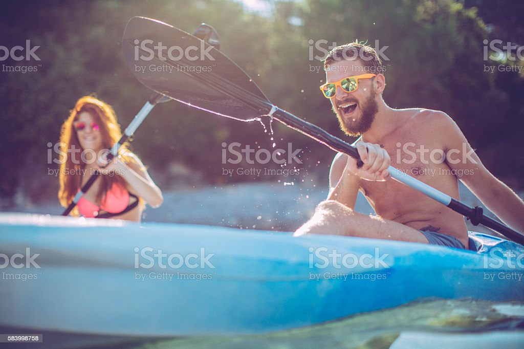 Active summer holidays. stock photo