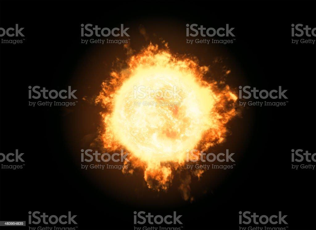 Active Sun - hot royalty-free stock photo