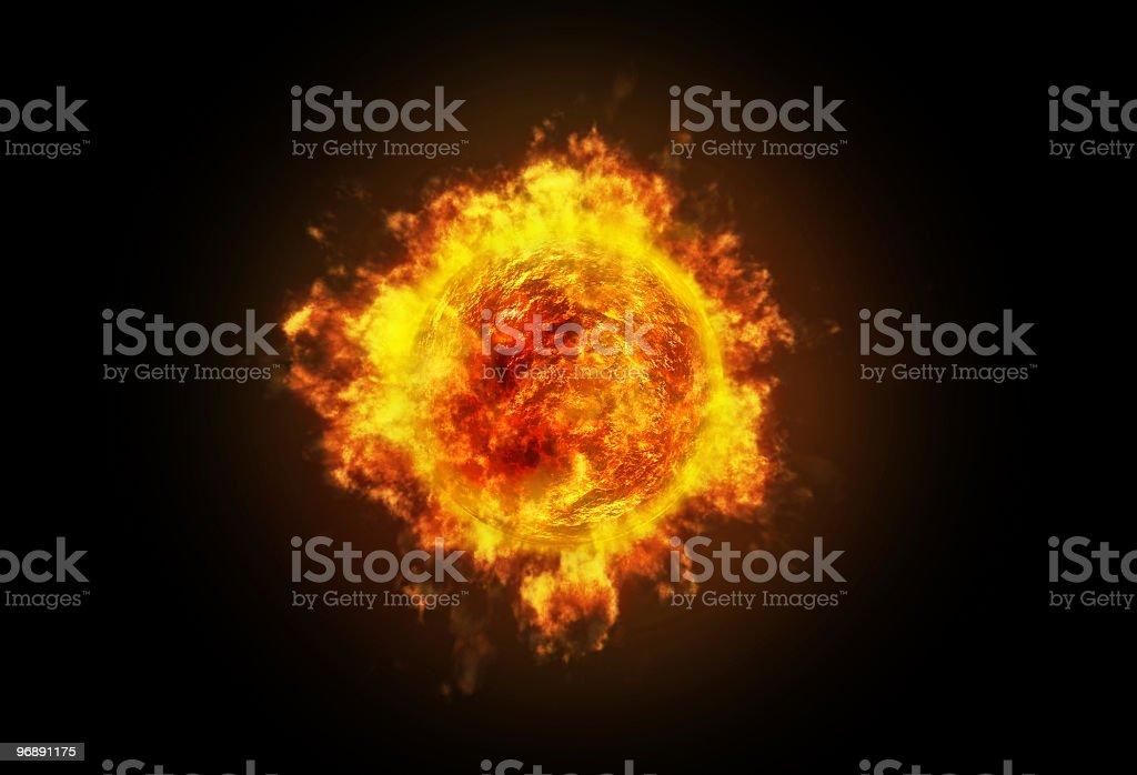 Active Sun royalty-free stock photo