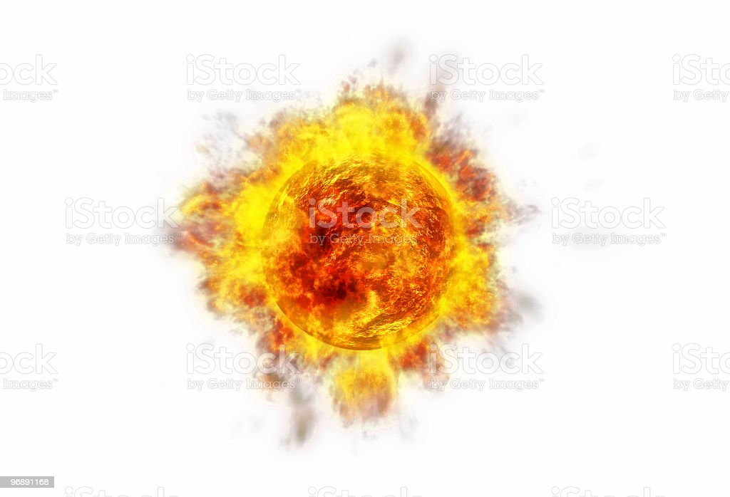 Active Sun white stock photo