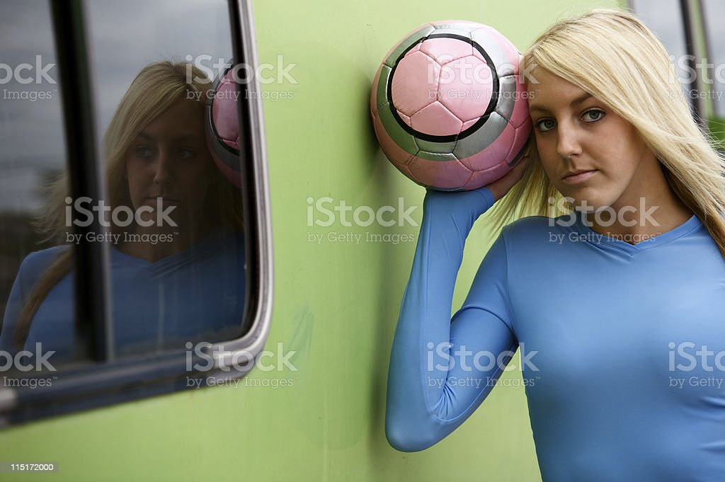 active teen female soccer portraits royalty-free stock photo