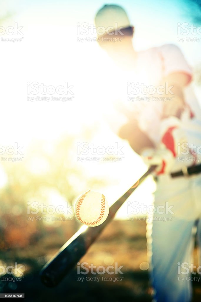 active teen male baseball player royalty-free stock photo