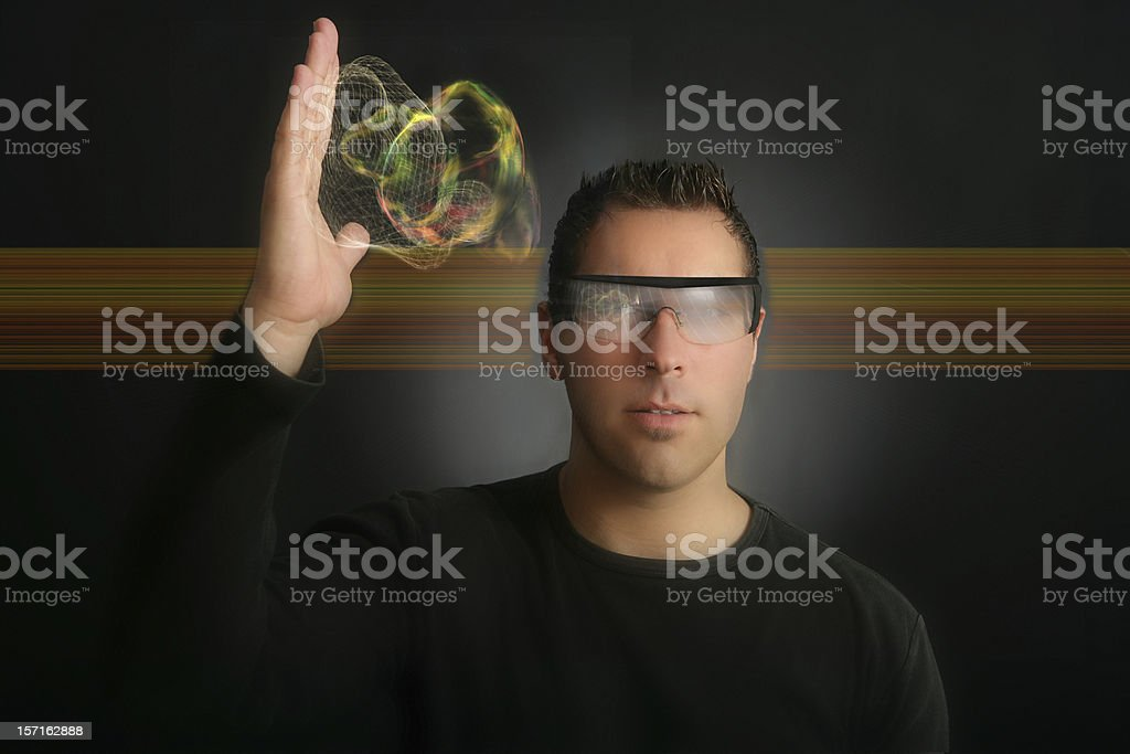 Active & virtual engineering (creative digital life) stock photo