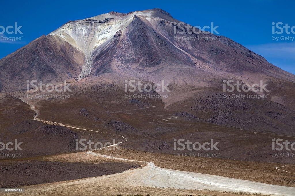Active Volcano Ollague, Bolivia stock photo