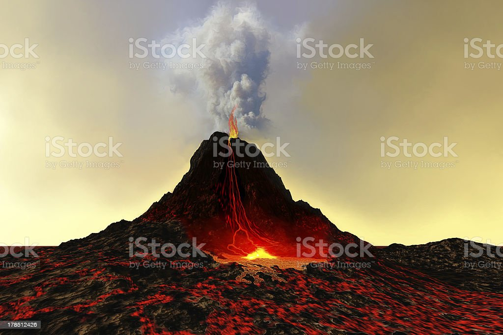 Active Volcano stock photo