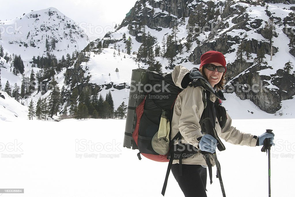 Active Winter Woman royalty-free stock photo