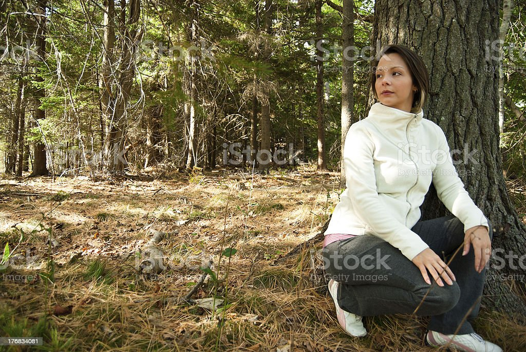 Active Young Woman in Nature royalty-free stock photo