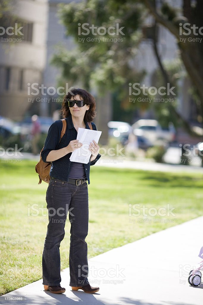 Activist Handing Out Fliers royalty-free stock photo
