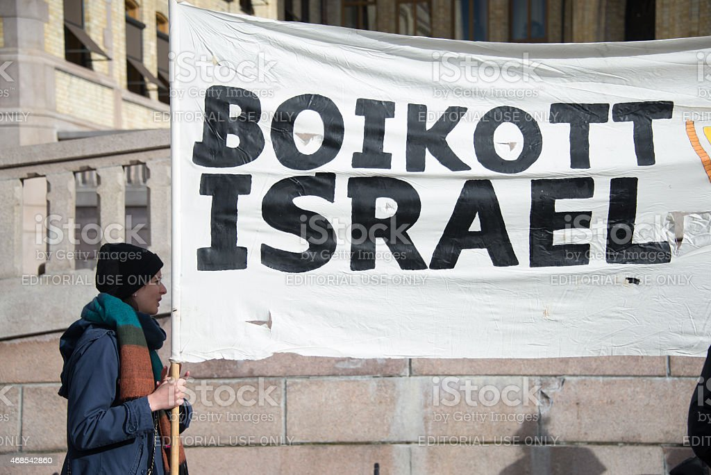 Activists protest Israeli policy on Land Day stock photo