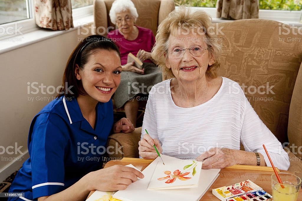 Activities At The Care Home stock photo