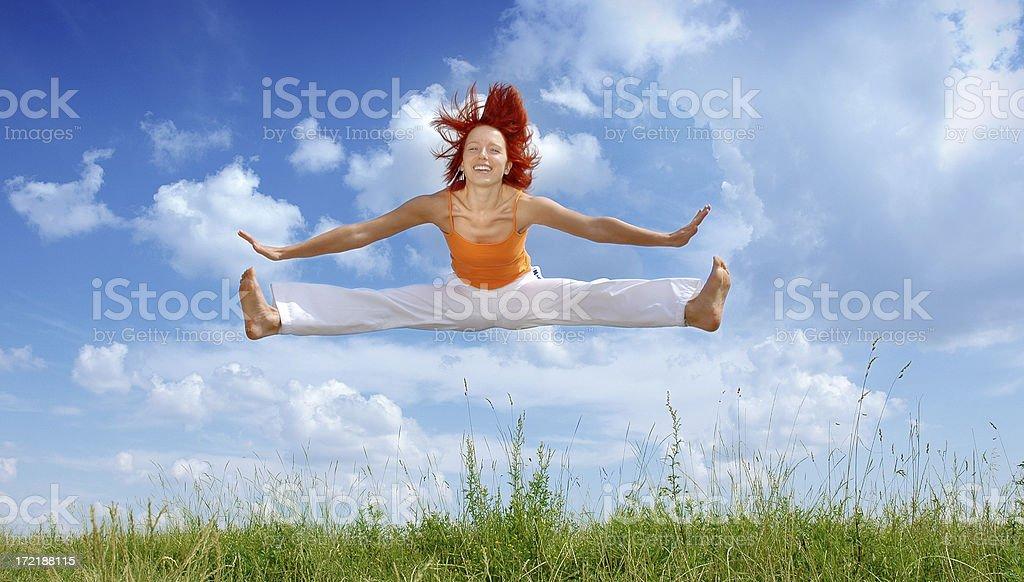 Activities: Gymnastics 3 royalty-free stock photo