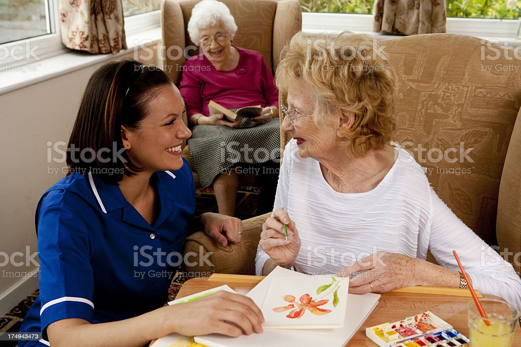 Activities In A Care Home stock photo