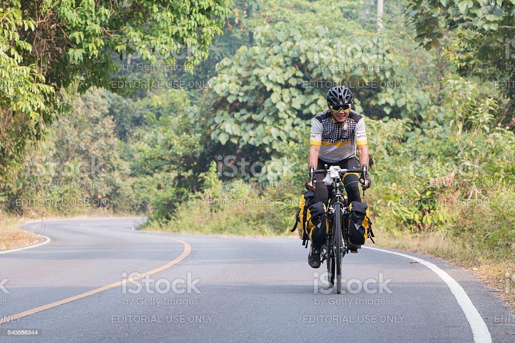 Activities of Mountain Bikers stock photo