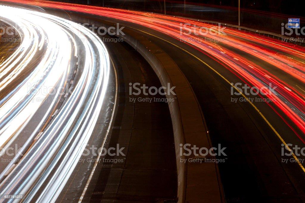 Activity on I-95 stock photo