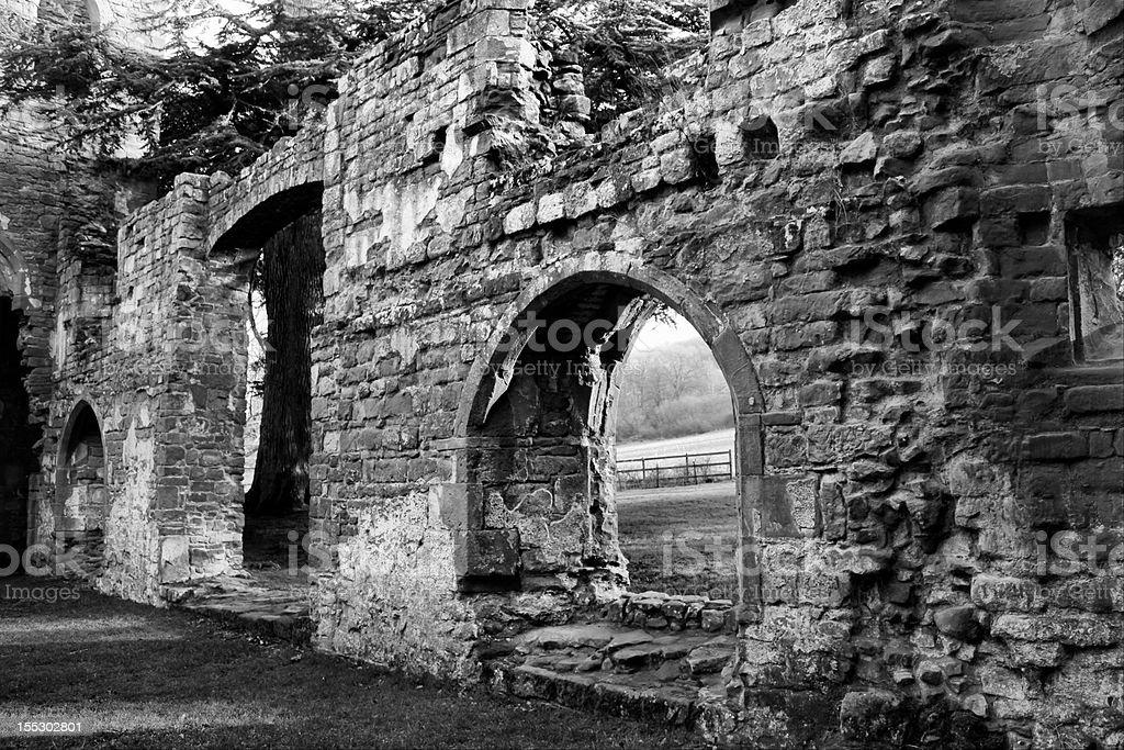 Acton Burnell Castle stock photo