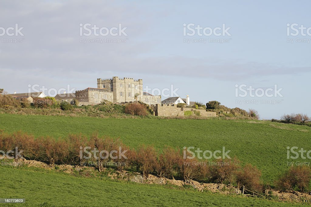 Acton Castle at Perranuthnoe in Cornwall England stock photo