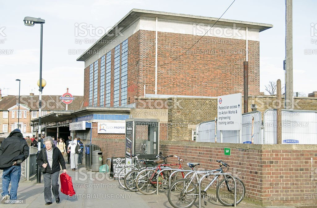 Acton Town Underground Station stock photo